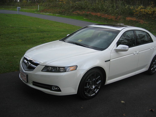 white 2007 Acura TL Type S · TL Type S, originally uploaded by washcaps8.