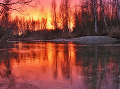 Down On The River (jack4pics) Tags: reflection water alaska river sundown matsu naturescenes littlesu outstandingshots lovephotography abigfave