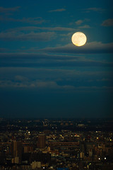Full Moon (mrhayata) Tags: sky cloud moon building sunshine japan night geotagged tokyo blog ikebukuro 日本 東京 池袋 東京都 サンシャイン toshima 豊島区 mrhayata geo:lat=357295506 geo:lon=1397181892