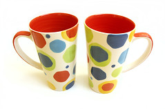 A Pair of Mugs (immutability) Tags: red white mugs colours mug latte whittard