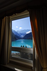 a room with a view ! (bravewest) Tags: hotel glacier alberta fairmount lakelouise chateau p1f1