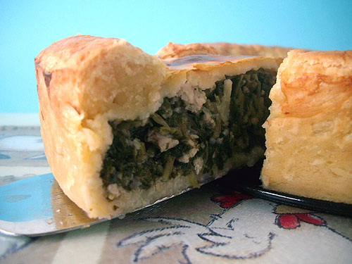 Spinach & Minced Pork Pie