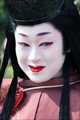 Lady Shizuka: Jidai Matsuri (mboogiedown) Tags: travel autumn red woman white history fall girl beautiful beauty face festival japan lady asian japanese interestingness eyes women kyoto colorful asia traditional culture makeup lips explore maiko    kimono gion tradition  kansai matsuri cultural  higashi  jidai           masayo  shizuka   finaltouches autumninjapan  ancientcapital i500     ilovekyoto flowerandwillowworld   moderntradition experiencejapan festivalsofjapan festivalsofkyoto discoverkyoto  colorsofkyoto kyotodaisuki
