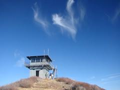 Slide Mt. Lookout with fire bird (firelookout) Tags: california phoenix firebird firelookout slidemountain