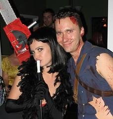 Me & Josh [Velma Kelly & Ash] (katenadine) Tags: seattle party holiday halloween me costume josh fancydress velmakelly katemcelwee mcelweenerhalloweener