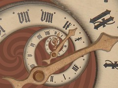Time Spiral (gadl) Tags: wallpaper brown clock spiral wooden hand time gothic gimp number recursion recursive arrow drosteeffect droste recursivity infini selection1 mathmap finity droste:p2=1 drostep111