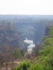Zimbabwe Zambia Bridge (Laura in NYC) Tags: zimbabwe victoriafalls zambeziriver