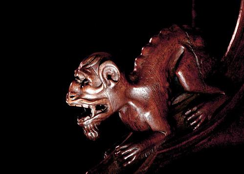 Demonio en la sillería del coro de la Catedral de Toledo