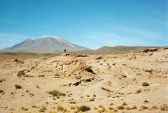 In the distance (rasmus_boegh) Tags: mountain bolivia bluesky andes barren altiplano uyuni rockformation reservadefaunaandina eduardoavaroa