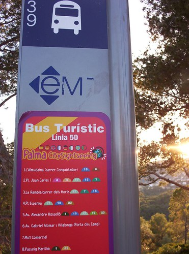 Another great option for Sunday is to ride on the touristic bus.