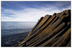 Leaning rocks (Satli) Tags: sea sky iceland rocks basalt columnar kalfshamarsvik