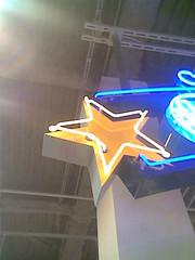 shooting (neon) star (debaird) Tags: cameraphone moblog star nokia neon cell 2006 shalliputitontheunderhillaccountseor