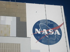 NASA logo on the Vehicle Assembly Building