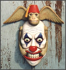 (ojimbo) Tags: monkey carved outsider clown pop fez lowbrow ojimbo