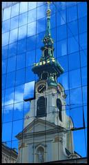 Viennese Reflection (Erin Butler) Tags: vienna city church architecture austria erin thing places butler erinbutler