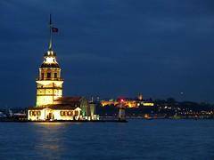 Maiden Tower - İstanbul (H e r m e s) Tags: light sea night turkey istanbul kızkulesi üsküdar maidentower