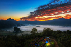 Phu Lanka mountain hills north Thailand. (anekphoto) Tags: outdoor fog tree thailand park green north autumn day night season forest color winter fall weather panorama mist path sport hill hiking foggy natural climbing sunrise summer morning misty high mountain sky nature landscape adventure camp environment lifestyle picnic sun sunset sleep survival tent tourism travel trip weekend phayao nan