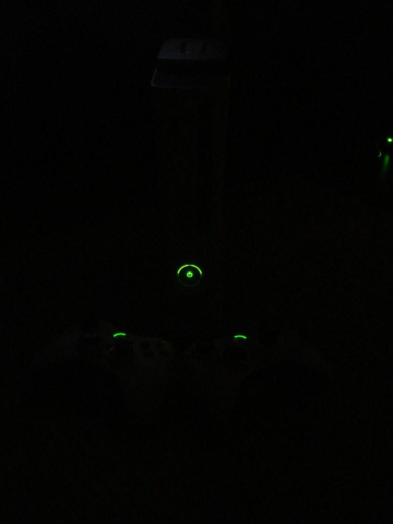 Xbox 360 in the dark