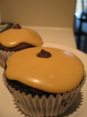 Chocolate Cupcakes with Peanut Butter Frosting - by lovebuzz