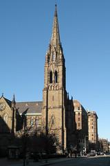 church of the covenant (Paul Keleher) Tags: blue church boston geotagged massachusetts newengland newburystreet steeple churchofthecovenant geolon71073722 geolat42352118
