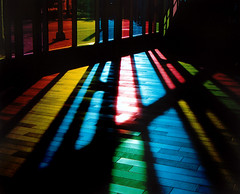 Colours Through the Windows (Yawp Barbarian) Tags: blue windows winter light red canada black color green topf25 colors lines station yellow tag3 taggedout reflections tag2 colours tag1 shadows tunnel lookatme kiss2 kiss3 kiss1 kiss4 kiss5 tccomp203