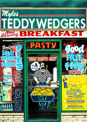 Myles Teddywedgers (Todd Klassy) Tags: street door travel windows food window glass sign vertical shop retail wisconsin architecture breakfast menu lunch restaurant marketing store cafe memorial colorful paint downtown commerce open state painted meals fastfood ad entrance visit front advertisement business doorway eat madison storefront signage deli myles dining portal lettering sales opensign statestreet wi windowpaint businesshours pasty stockphoto cornish madisonwisconsin teddywedgers stockphotography isthmus urbanscene outdooradvertising colorimage danecounty cornishpasties buildingexterior touristdestination downtownmadison burgerjoints cornishpastys madisonphotographer cityofmadison mylesteddywedgers toddklassy madisonbusiness madisondocumentaryphotographer
