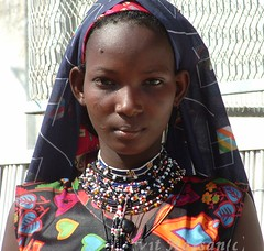 -Necklaces- (Vt Hassan) Tags: africa portrait people woman girl face tattoo necklace eyes searchthebest top sudan tattoos tribe scarification necklaces theface falata fullani scarifications infinestyle