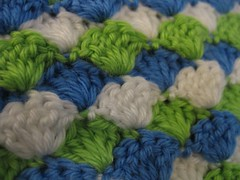 baby blanket close-up