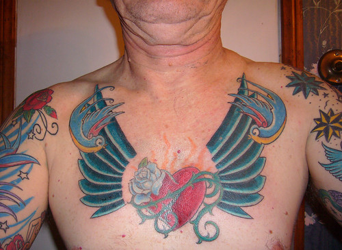 """Sacred Heart"" Got Its Wings by Tattoo Tom. My heart now has wings!"