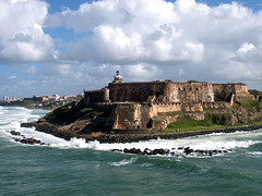 Crashing against El Morro (mindintrigue) Tags: ocean stone puerto puertorico fort wave rico sanjuan shore top10 fortification morro abigfave aplusphoto