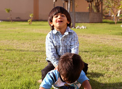 Just say it...say that you give-up...EHEHE... (Anas Bukhash (nascity)) Tags: baby playing cute boys kids children happy funny brothers joy fighting playingaround brotherly littleboys bood kalkool boodkalkool nascity