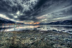 Ranfjorden HDR (balsamia) Tags: blue sunset sea norway dark gloomy fjord 1022mm hdr nordnorge 2h 10mm nordland moirana photomatix northernnorway dystert