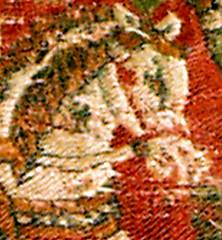 CESRAS image KMA711-4-Pferdekopf-links (CESRAS) Tags: persian textiles kiev coptic sassanian lateantiquity sassanid copticart cesras coptictextiles