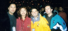 Mega 100 Christmas Party in Disneyland - Juan, Nancy, Me and Abe (Tio Victor) Tags: radio years unica