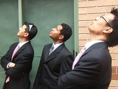 pondering-groomsmen