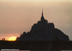 Mont Saint-Michel at sunset