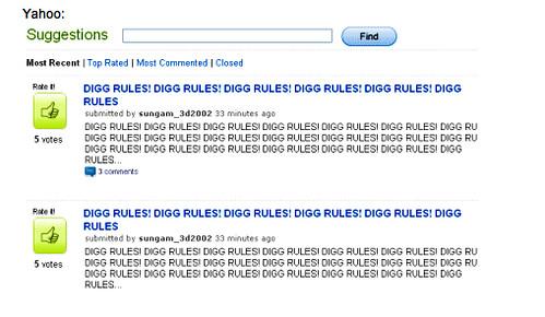Digg Rules