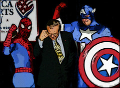That Would Be Donald Rumsfeld Checking Out Spiderman's Bluge