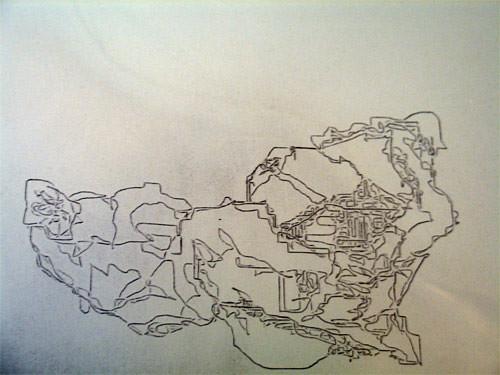 Etch-a-Sketch: Tea Bag and Tissue Paper