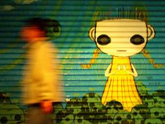 black-eyed girl (tamjpn) Tags: shutter blur yellow blue green antiphoto topf75 topv555