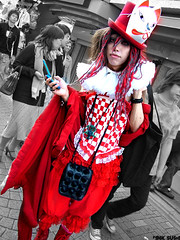 the red jester harajuku (Pink Sushi) Tags: harajuku japan streetfashion tokyo costume harajuko funky