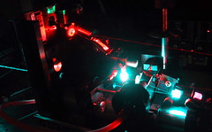 A dye laser (2) (fatllama) Tags: red green science ring laser physics dye argon dcm
