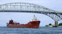 Lee A. Tregurtha (joeldinda) Tags: blue 15fav greatlakes michiganfavorites lakers stclairriver bluewaterbridge porthuron joeldinda leetregurtha tregurtha greatlakesshipping c50