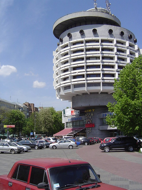 Soviet cylindrical building