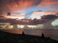 #? Sunset at Naminoue Beach (Nemo's great uncle) Tags: sunset geotagged okinawa 沖縄 naha 日没 那覇 naminoue 波之上 geo:lat=26221059 geo:lon=127663751