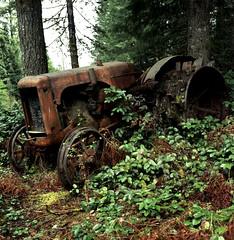 Tractor at Rest (artandscience) Tags: rolleiflex kodak 100uc arlingtonairshow