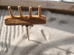 Tiny Rake in Zen Garden