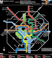 WMATA Subway Map, Washington, DC