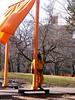 jumpsuit (Rochelle Ratner) Tags: gatesmemory gates centralpark orange newyork