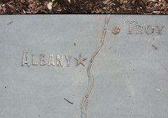 Albany Troy map